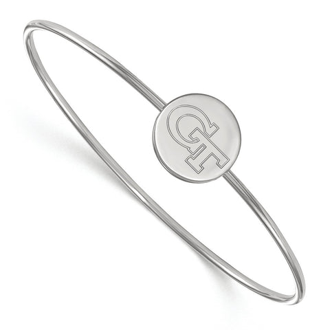 Sterling Silver LogoArt Georgia Institute of Technology Wire Bangle
