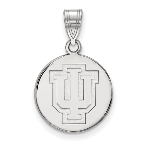 14kw LogoArt Indiana University Medium Disc Pendant