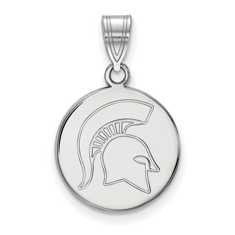 14kw LogoArt Michigan State University Medium Disc Pendant