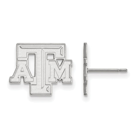 14kw LogoArt Texas A&M University Small Post Earrings