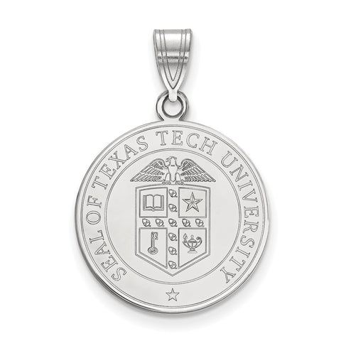 Sterling Silver LogoArt Texas Tech University Large Crest