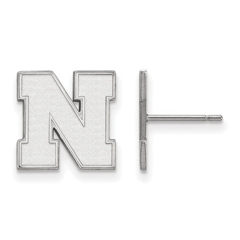 10kw LogoArt University of Nebraska Small Earrings Post