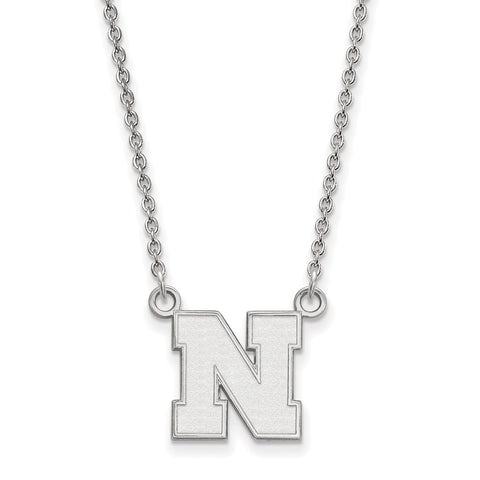 10kw LogoArt University of Nebraska Small Pendant w/Necklace