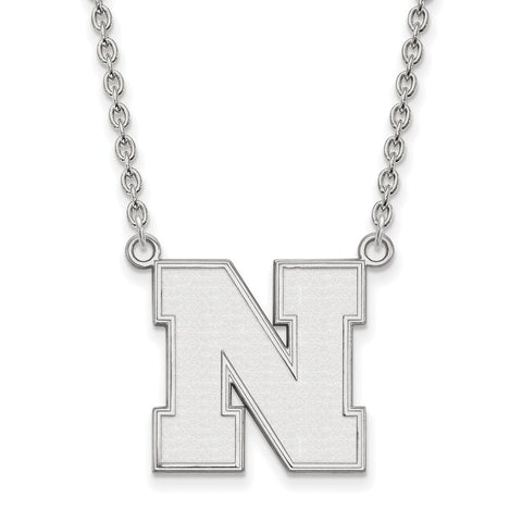 14kw LogoArt University of Nebraska Large Pendant w/Necklace