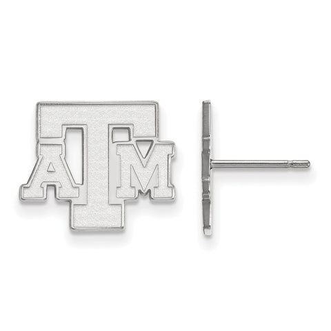 10kw LogoArt Texas A&M University Small Post Earrings