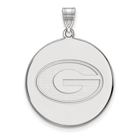 Sterling Silver LogoArt University of Georgia XL Disc Pendant