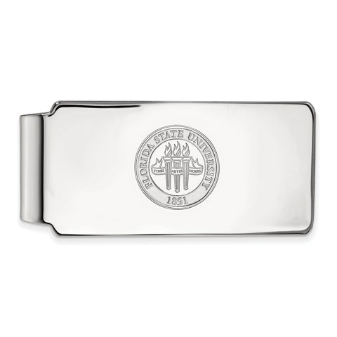14kw LogoArt Florida State University Money Clip Crest