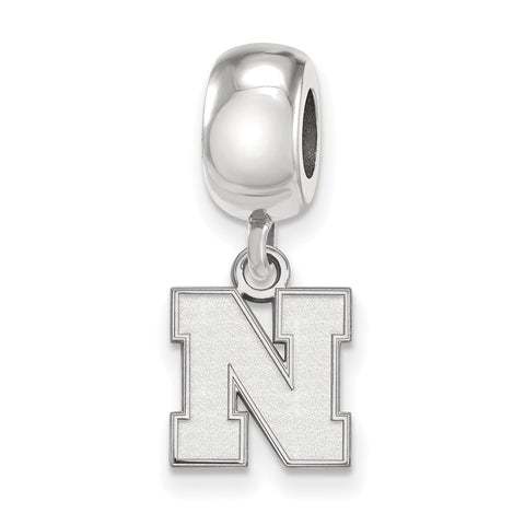Sterling Silver LogoArt University of Nebraska XS Bead Charm