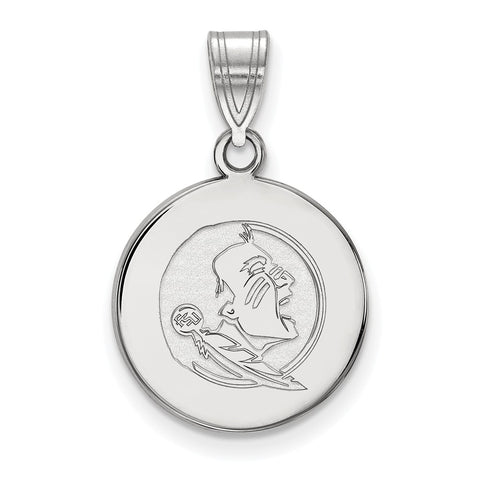 14kw LogoArt Florida State University Medium Disc Pendant