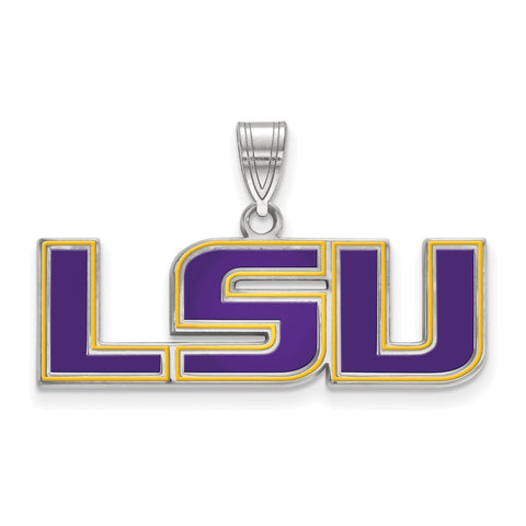 14kw LogoArt Louisiana State University XL Disc Pendant
