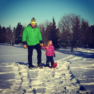 Kids snowshoes 101-How to snowshoe with kids.