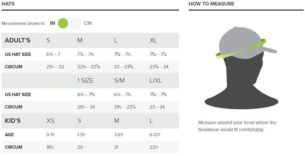 Outdoor Research Hat Sizing Guide - All Out Kids Gear