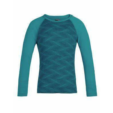 Icebreaker Kids 200 Oasis Long Sleeve Crewe Curve Merino Baselayer