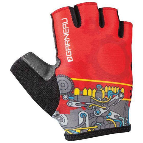 Louis Garneau Kids Red Machine Biking Gloves - All Out Kids Gear