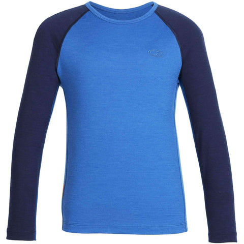 NEW Icebreaker Kids Oasis Long Sleeve Crewe