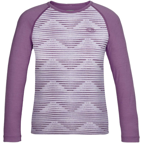 NEW Icebreaker Kids Oasis Long Sleeve Crewe Diamond Line