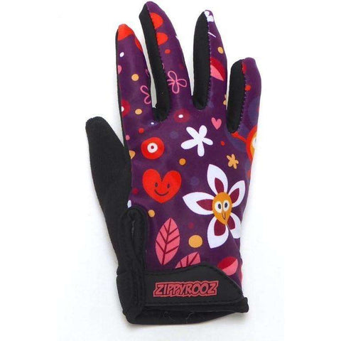 ZippyRooz Flowers Full Finger Kids Biking Gloves   All Out Kids Gear