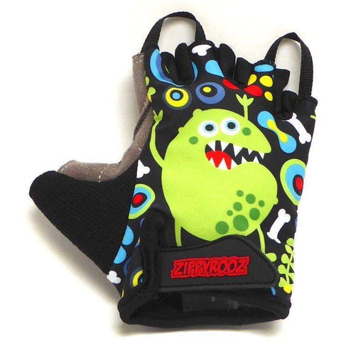 ZippyRooz Monsters Half Finger Kids Biking Gloves   All Out Kids Gear