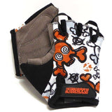 ZippyRooz Skulls Half Finger Kids Biking Gloves