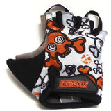 ZippyRooz Skulls Half Finger Kids Biking Gloves   All Out Kids Gear