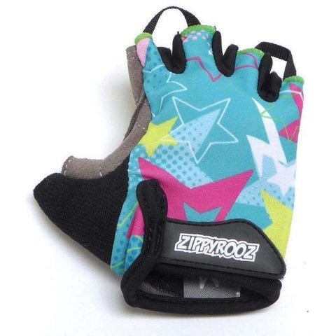 ZippyRooz Stars Half Finger Kids Biking Gloves