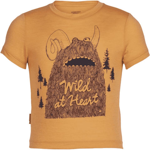 Icebreaker Kids' Tech Lite Wild Heart Monster Short Sleeve- 50% Off Past Season Style