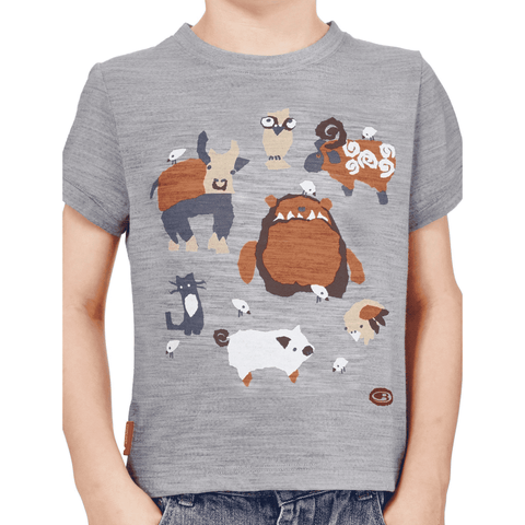 Icebreaker Kids' Tech Lite Bigfoot Barnyard Short Sleeve - 50% Off Past Season Style