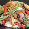 Gluten Free Brown Rice Noodles with Brown Stir Fry Sauce Image