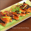 Gluten free roasted wings with spicy orange sauce