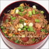 Shrimp and bacon fried rice bowl image