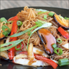 Vegetarian Brown rice noodle with mushroom recipe image