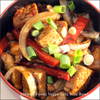 Vegan tofu and mushroom recipe image