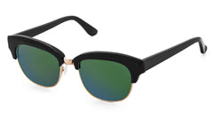 Condor - Black & Rose Gold w Mirror Green Lens