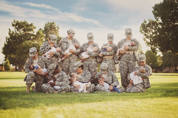 Breastfeeding military moms. Tara Ruby Photography