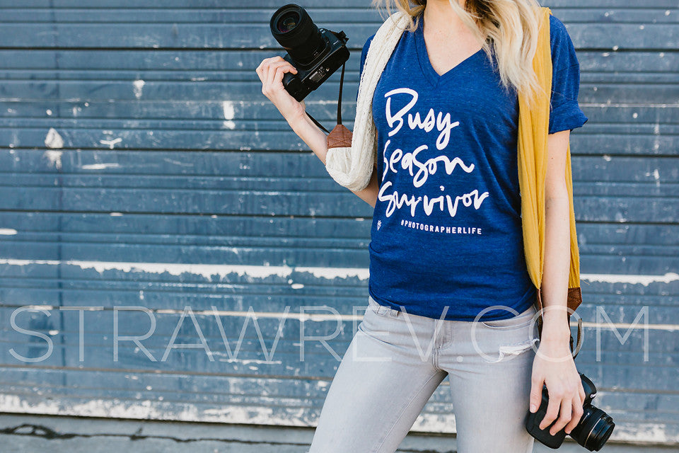 busy season survivor. Photographer t-shirt. Wedding photographer tshirt
