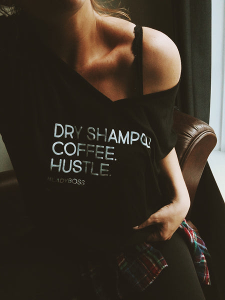 Sarah Hill Dry Shampoo Coffee Hustle t-shirt - Strawberry Revolution