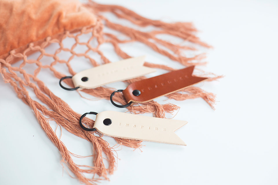 GENUINE LEATHER KEYCHAINS