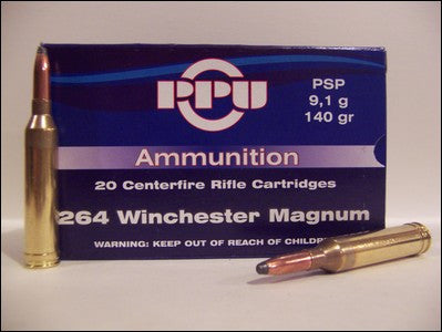 Prvi Partizan PPU Ammunition 264 Winchester Magnum 140 Grain Pointed Soft Point (20pk)