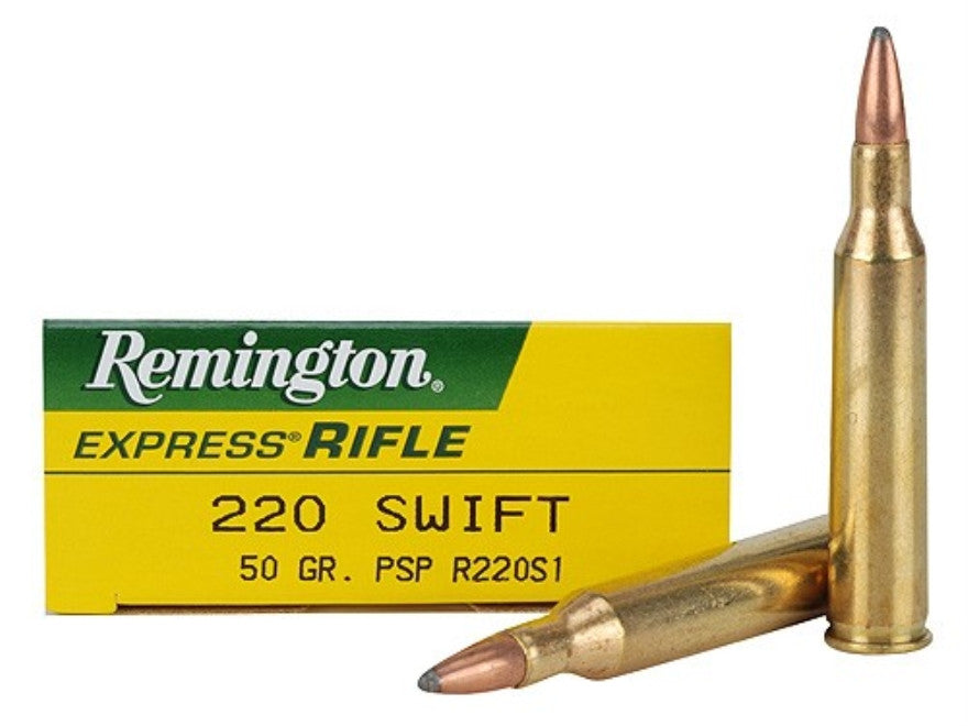 Remington Express Ammunition 220 Swift 50 Grain Pointed Soft Point (20pk)