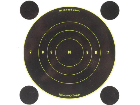 "Birchwood Casey Shoot-N-C Targets 6"" Bullseye with 48 Pasters (12Pk)"