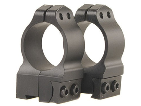 "Warne Permanent-Attachable Ring Mounts CZ 527 (16mm Dovetail) 1"" High Matte"