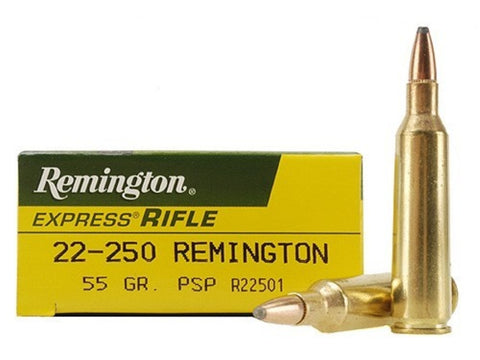 Remington Express Ammunition 22-250 Remington 55 Grain Pointed Soft Point (20pk)