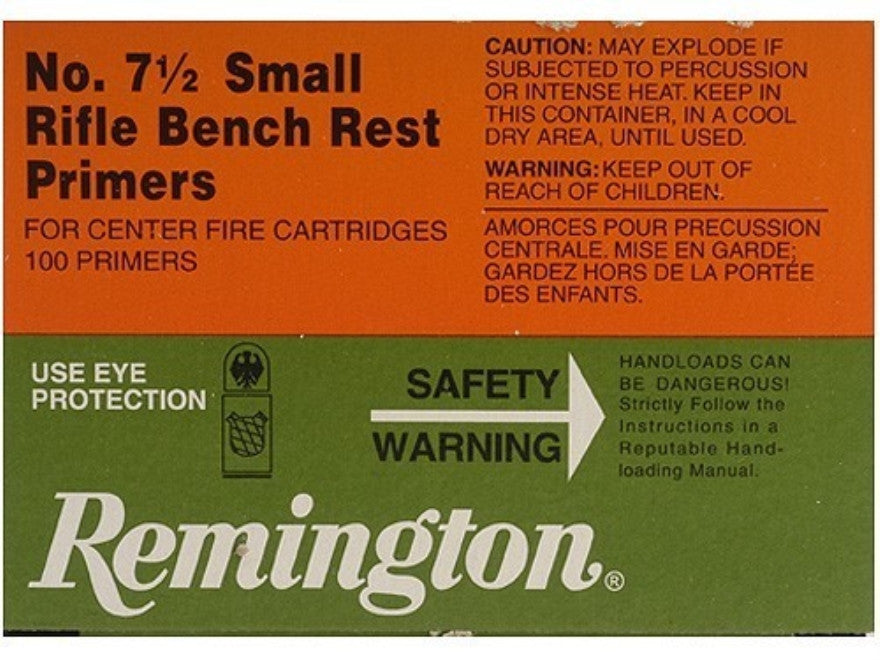 Remington Small Rifle Bench Rest Primers #7-1/2 (100pk)