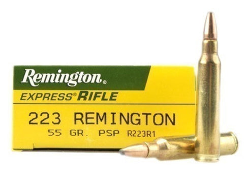 Remington Express Ammunition 223 Remington 55 Grain Pointed Soft Point (20pk)