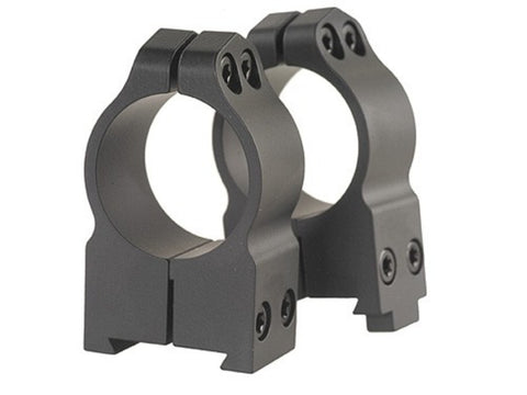 "Warne Permanent-Attachable Ring Mounts CZ 550, BRNO 602 (19mm Dovetail) 1"" High Matte"