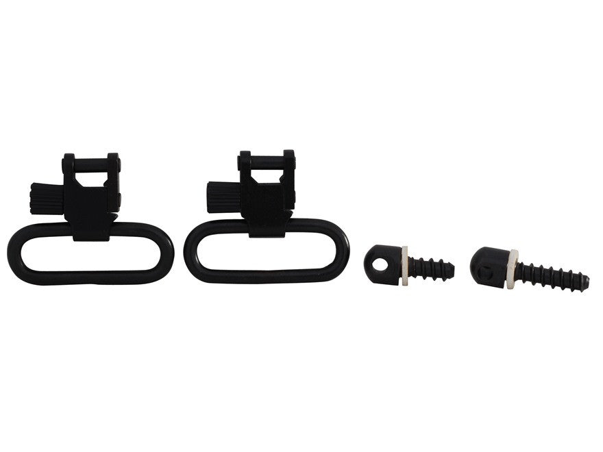 "Uncle Mike's Quick Detachable Wood Screw Type Sling Swivel Set 1-1/4"" Loops Black (1311-3)"