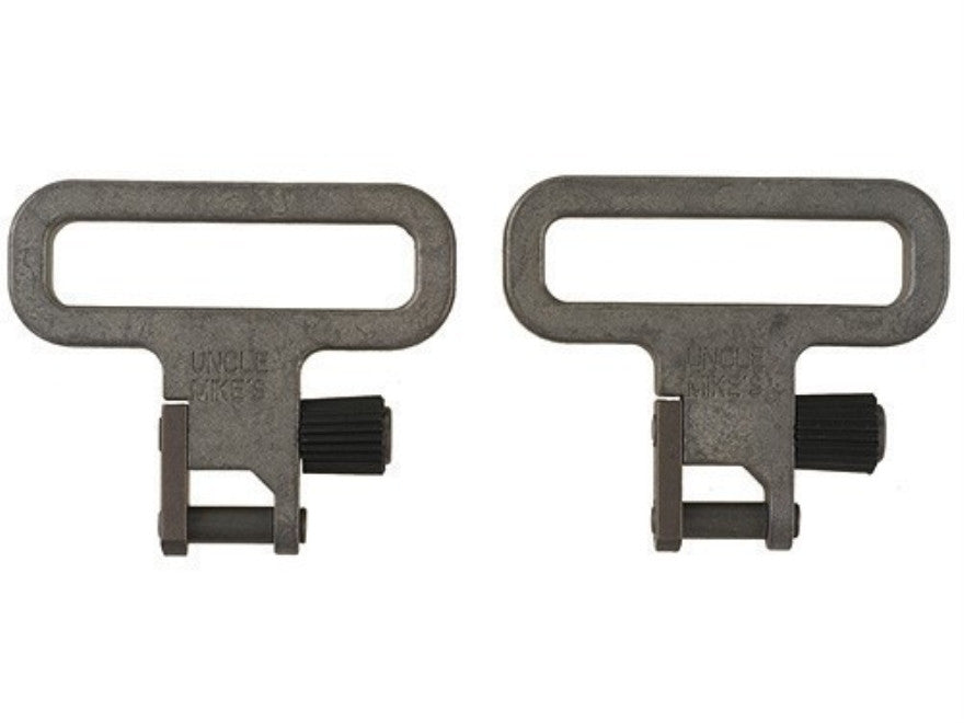 "Uncle Mike's Quick Detachable Mil-Spec Sling Swivels 1-1/4"" Nickel Plated (1402-3)"