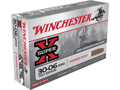Winchester Super-X Ammunition 30-06 Springfield 150 Grain Power-Point (20pk)