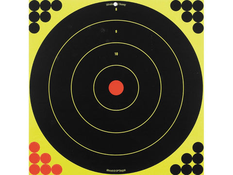 "Birchwood Casey Shoot-N-C 17.25"" Bullseye Targets with 200 Pasters (5Pk)"