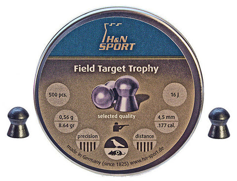 H&N Field Target Trophy 177 Cal Air Pellets 0.56g / 8.64gr >7.5J (500pk) (2441)